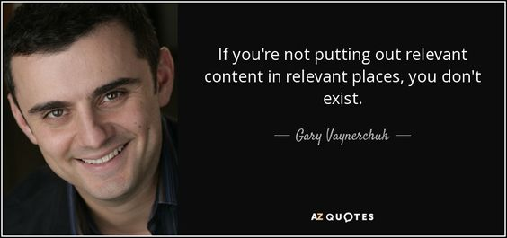 relevant content quote black from Gary Vaynerchuk
