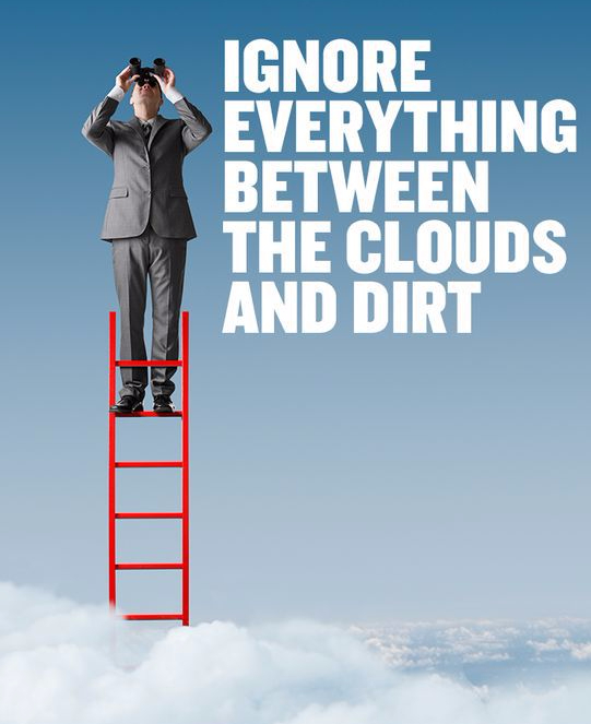 Ignore everything between clouds and dirt
