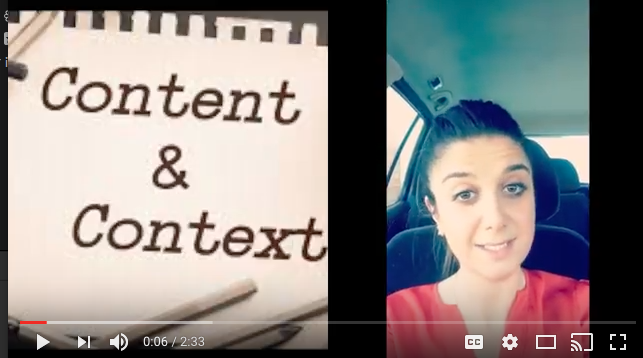 Video about content and context
